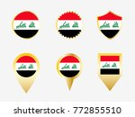vector flag set of iraq | Shutterstock .eps vector #772855510