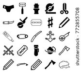 set of 25 sharp filled and... | Shutterstock .eps vector #772855708