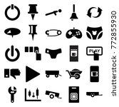 set of 25 push filled icons... | Shutterstock .eps vector #772855930