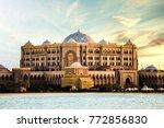 abu dhabi  united arab emirates ... | Shutterstock . vector #772856830