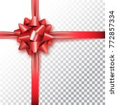 red bow for packing gifts.... | Shutterstock .eps vector #772857334