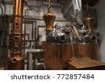 copper still alembic inside... | Shutterstock . vector #772857484