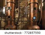 copper still alembic inside... | Shutterstock . vector #772857550