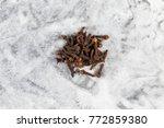 drying clove spice  syzygium...   Shutterstock . vector #772859380