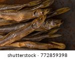 dried fish. salty dry river...   Shutterstock . vector #772859398
