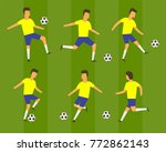 football soccer players vector. ... | Shutterstock .eps vector #772862143
