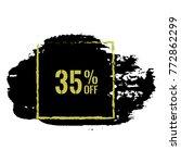 35  off sale discount banner....   Shutterstock .eps vector #772862299