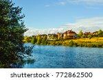 idealistic place. settlement... | Shutterstock . vector #772862500