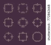 huge rosette wicker border... | Shutterstock .eps vector #772862668