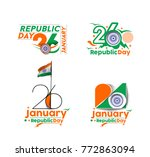 indian republic day concept... | Shutterstock .eps vector #772863094
