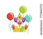 funny circus clown in...   Shutterstock .eps vector #772864723