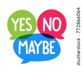 yes  no  maybe. badge  mark ... | Shutterstock .eps vector #772866064