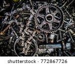 abstract hdr grain of metallic... | Shutterstock . vector #772867726