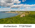 stone bench at the south west... | Shutterstock . vector #772870060