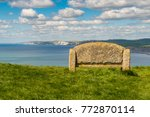 stone bench at the south west... | Shutterstock . vector #772870114