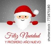 feliz navidad   merry christmas ... | Shutterstock .eps vector #772870180
