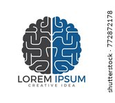 creative brain logo design.... | Shutterstock .eps vector #772872178