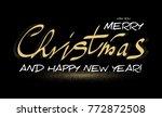 merry christmas calligraphic... | Shutterstock .eps vector #772872508