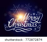 merry christmas calligraphic... | Shutterstock .eps vector #772872874