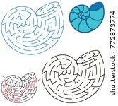 seashell  the labyrinth simple... | Shutterstock .eps vector #772873774