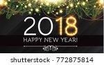 Happy New 2018 Year Background...