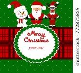 christmas card. funny postcard... | Shutterstock . vector #772875829