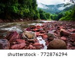 river and natural. | Shutterstock . vector #772876294