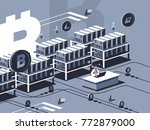 mining crypto currency. farm... | Shutterstock .eps vector #772879000