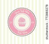 cupcake vector sweet and candy... | Shutterstock .eps vector #772883278
