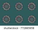 snowflake simple. blue  gray... | Shutterstock . vector #772885858
