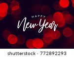 happy new year celebration text ... | Shutterstock . vector #772892293