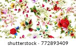 wide vintage seamless pattern.... | Shutterstock .eps vector #772893409