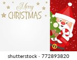 christmas greeting card with... | Shutterstock .eps vector #772893820