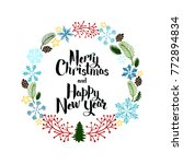 greeting card happy new year... | Shutterstock . vector #772894834