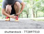 archillis tendinitis  injury... | Shutterstock . vector #772897510