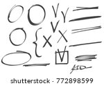 set of vector signs and symbols ... | Shutterstock .eps vector #772898599