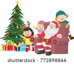 merry christmas. illustration... | Shutterstock .eps vector #772898866