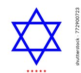 jewish star of david icon . | Shutterstock .eps vector #772900723