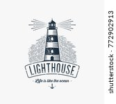 Lighthouse Design Element In...