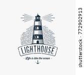 lighthouse design element in... | Shutterstock .eps vector #772902913