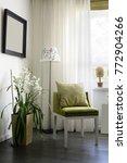 big and bright interior of... | Shutterstock . vector #772904266