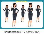 set of businesswoman character... | Shutterstock .eps vector #772910464