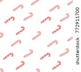 candy canes christmas vector... | Shutterstock .eps vector #772911700