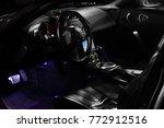 modern and dark car interior ... | Shutterstock . vector #772912516