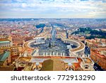 saint peters square in the... | Shutterstock . vector #772913290