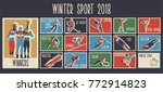 winter sport games 2018 vector... | Shutterstock .eps vector #772914823