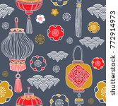 chinese new year design. vector ... | Shutterstock .eps vector #772914973