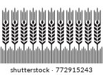 field of wheat  barley or rye ... | Shutterstock .eps vector #772915243