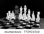 chess. one against all.... | Shutterstock . vector #772921510