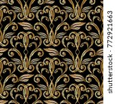 gold vector embroidery damask ... | Shutterstock .eps vector #772921663